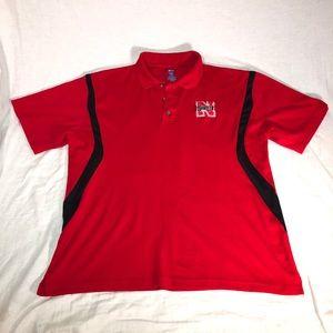 NCAA Nebraska Huskers Team Polo Shirt Size Large